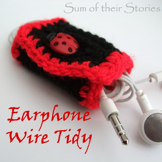 crochet ear bud wire tidy