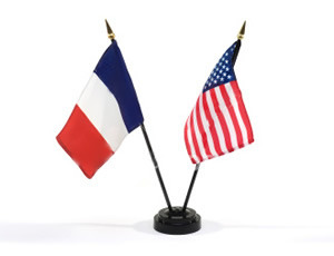 Drapeaux France USA