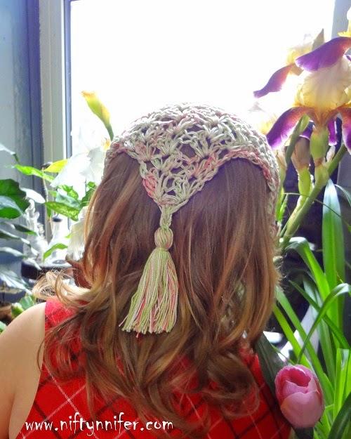 Niftynnifer\'s Crochet & Crafts: Free Crochet Pattern ~Hair Kerchief