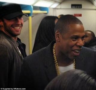 Wow JayZ takes  London Cummuter Train.