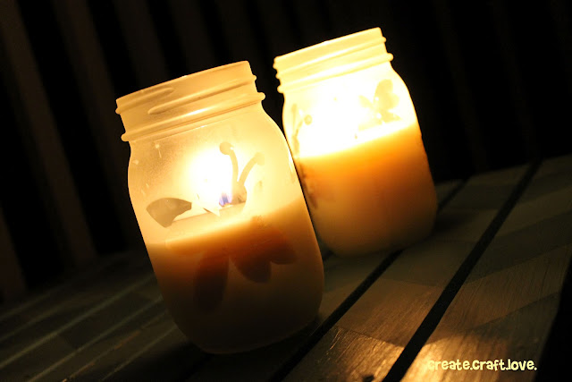 DIY Citronella Candles via createcraftlove.com #candles #citronellacandles #masonjars