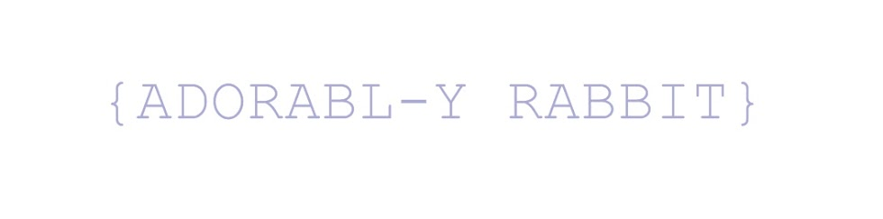 {ad☮rabl-y rabbit}