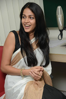 Actress Lavanya Tripathi Pictures in Saree at Radio Mirchi  25284).jpg