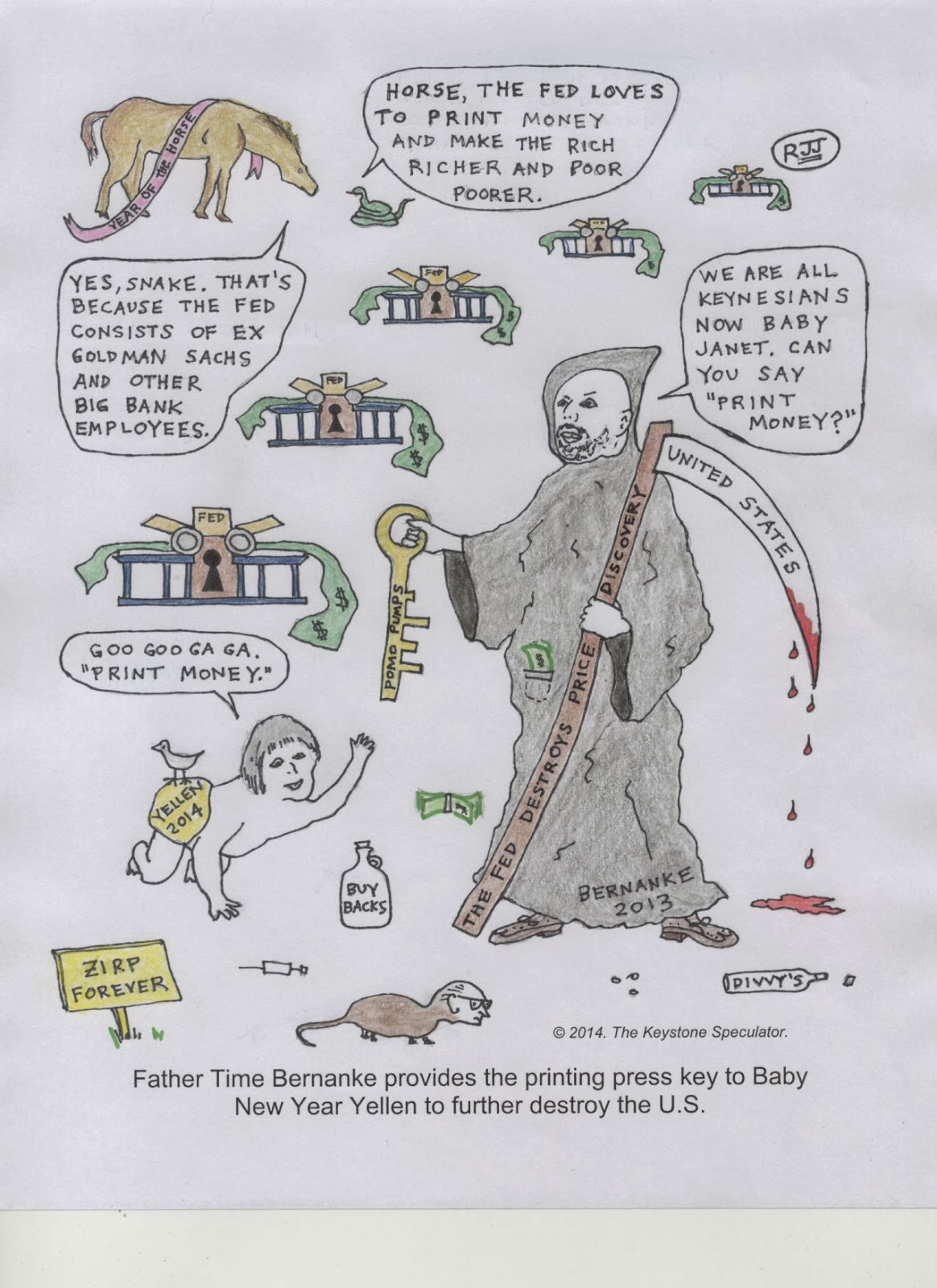 The Keystone Speculator™: The Sunday Funnies; Father Time Bernanke ...