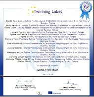 Certyfikat projektu eTwinning