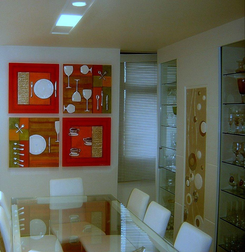 Fotos De Telas Para Sala De Jantar ~ Cristina Rezende Espaço de Arte Cozinha Moderna e Sala de Jantar