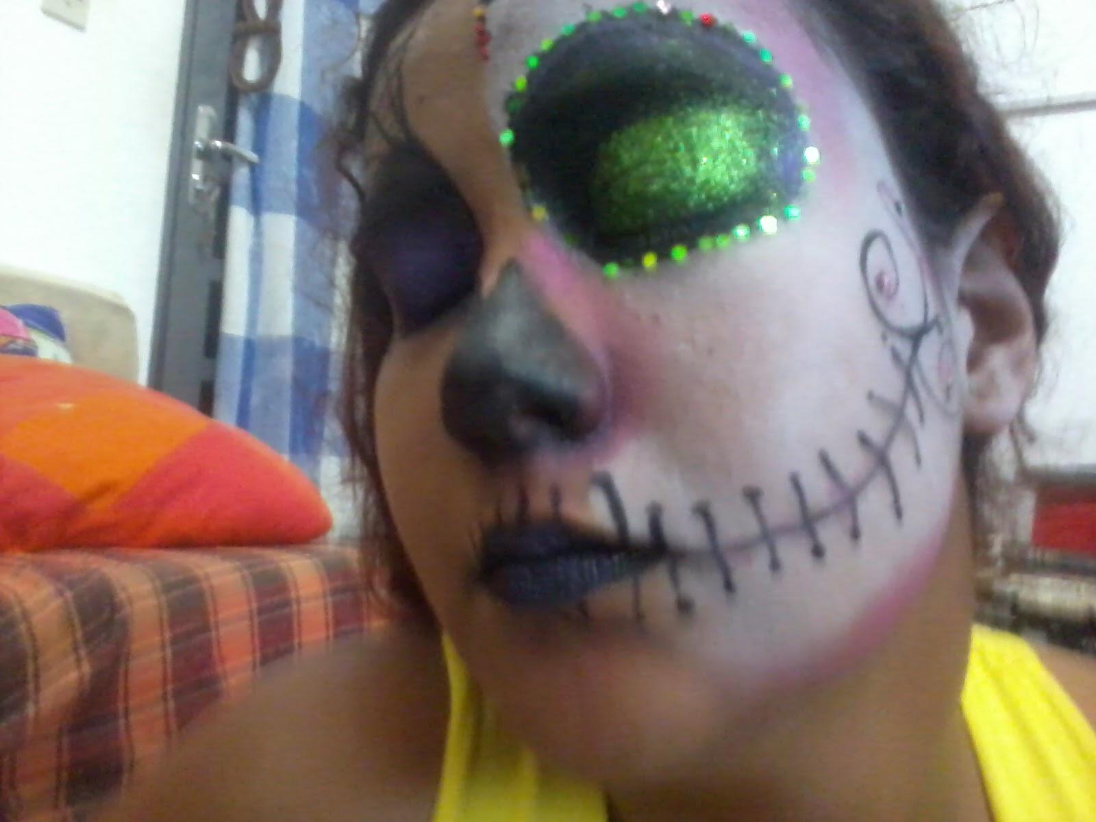 Nossas primeiras caracterizações com pinturas para Halloween