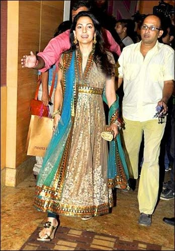 Juhi Chawla in Designe Anarkali Suit