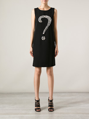 Moschino, question mark shift dress