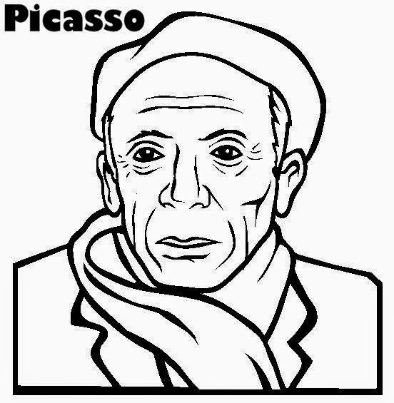 Pintores famosos: Pablo Picasso para niños. Cuadros para colorear