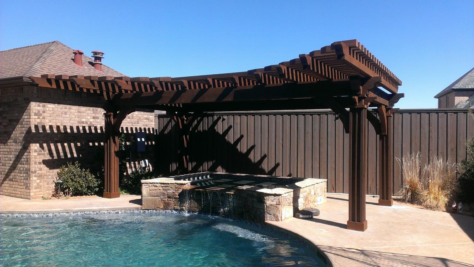 Pergolas arbors and decks in lubbock tx poolside for Southwest pergola