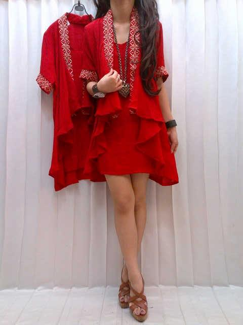 Red Blouse Susun Bordir Kode M-429