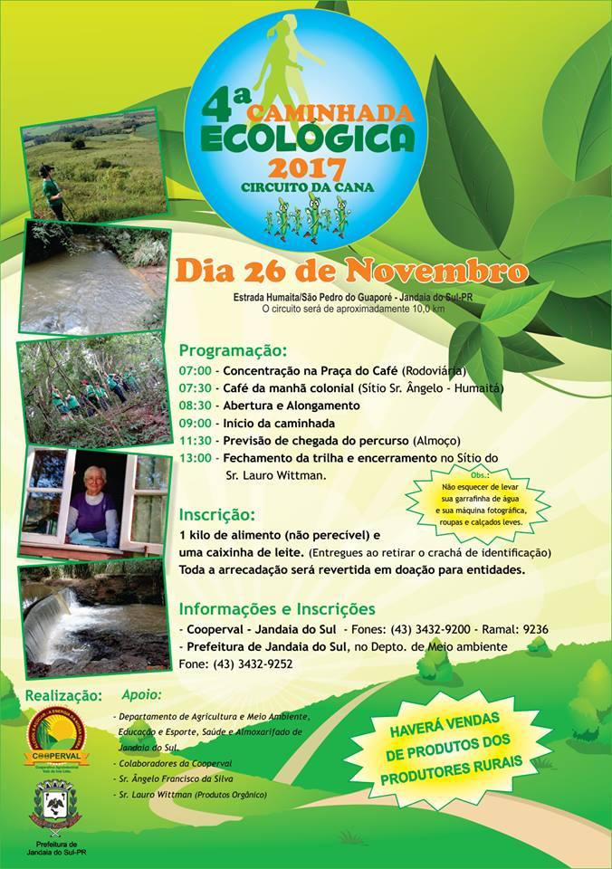 Caminhada Ecológica de Jandaia do Sul dia 26/11/2017