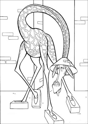Madagascar Melman Coloring Pages