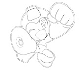 #12 Mega Man Coloring Page