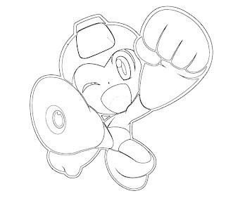 #12 Mega Man Coloring Page