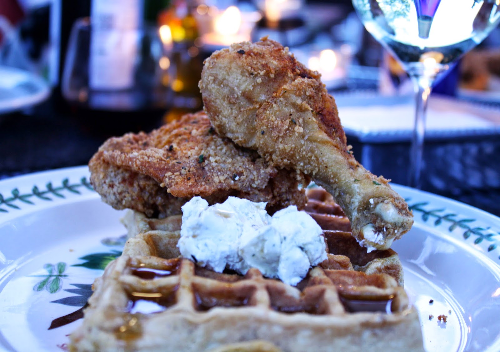 Northern Fried Chicken And Sweet Potato Waffles | Bevy Richmond