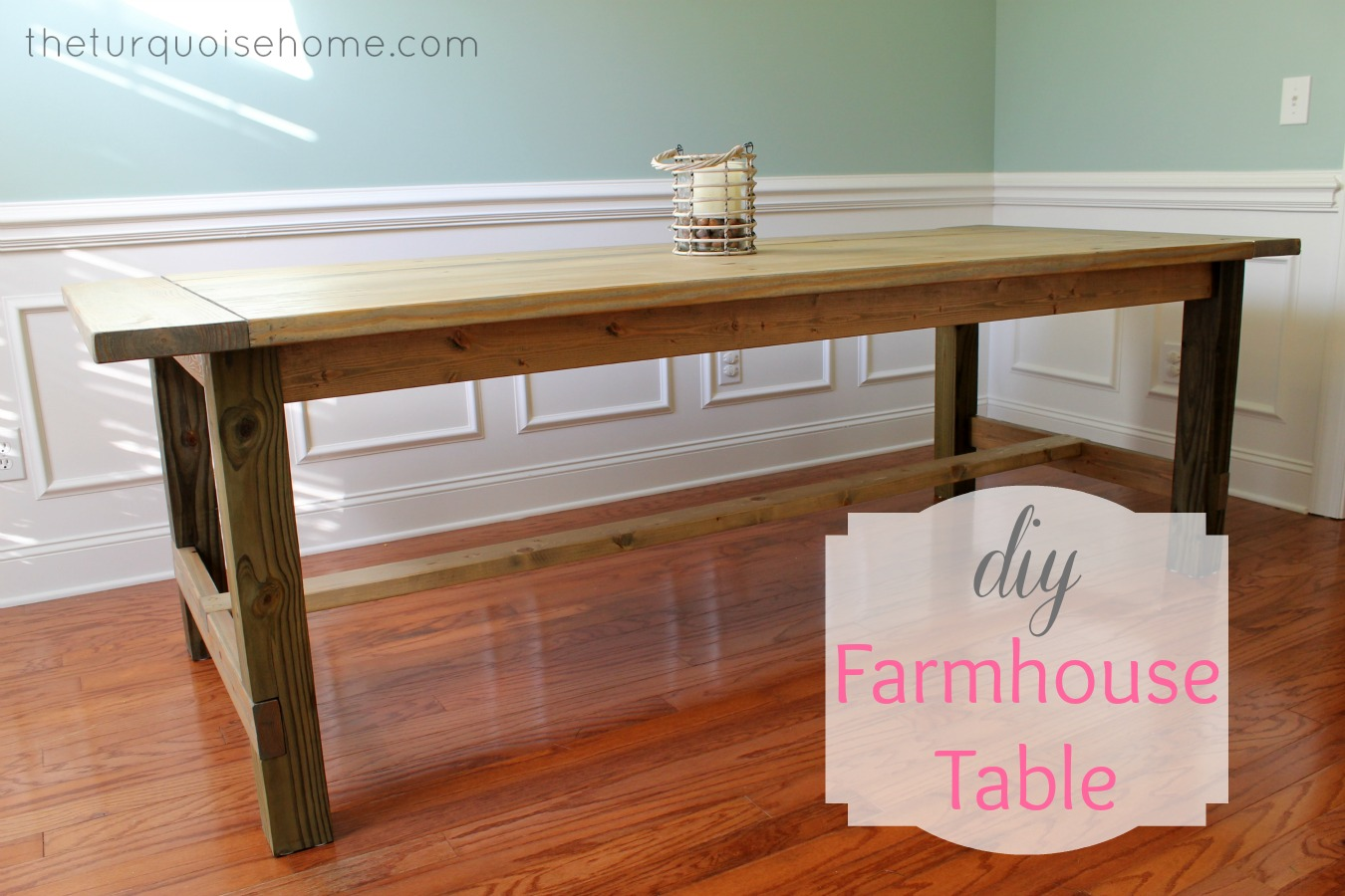 Diy Rustic Dining Room Table diy farmhouse table {for less than $100} | the turquoise home