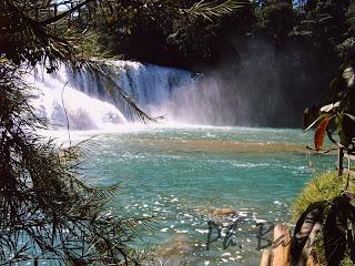 paysages mexique chiapas agua azul cascade blog voyage photo