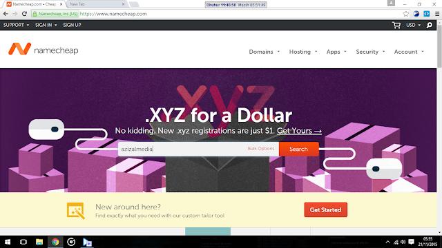 Tuliskan Domain yang ingin sobat beli