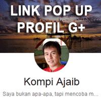 Membuat Link Pop Up Profil G+ Di Blog