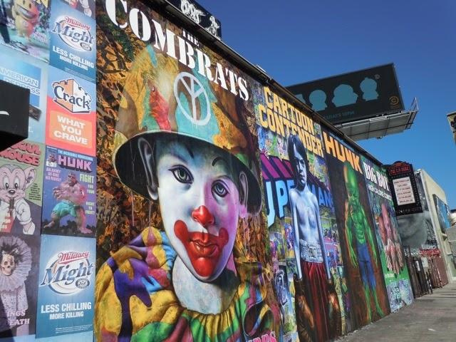 Melrose wall for Comic book mural