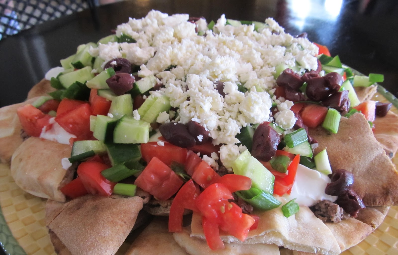 Greek Nachos Pita Bread Recipe — Dishmaps
