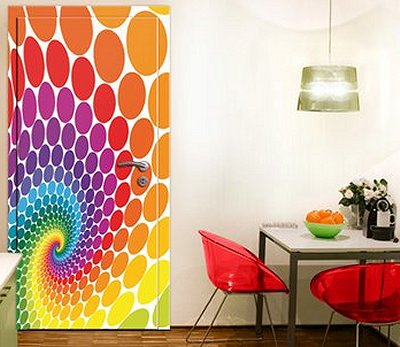 Magic Points Wall Mural From Your Wall Decal Deco Shopdecorate The Doors With Fun Rainbow Door Decal Stickers