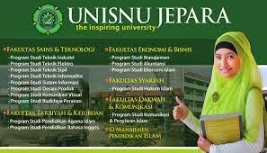 Jurusan UNISNU Jepara, Keluarga Besar UNISNU, Fakultas di UNISNU, UNISNU Jepara