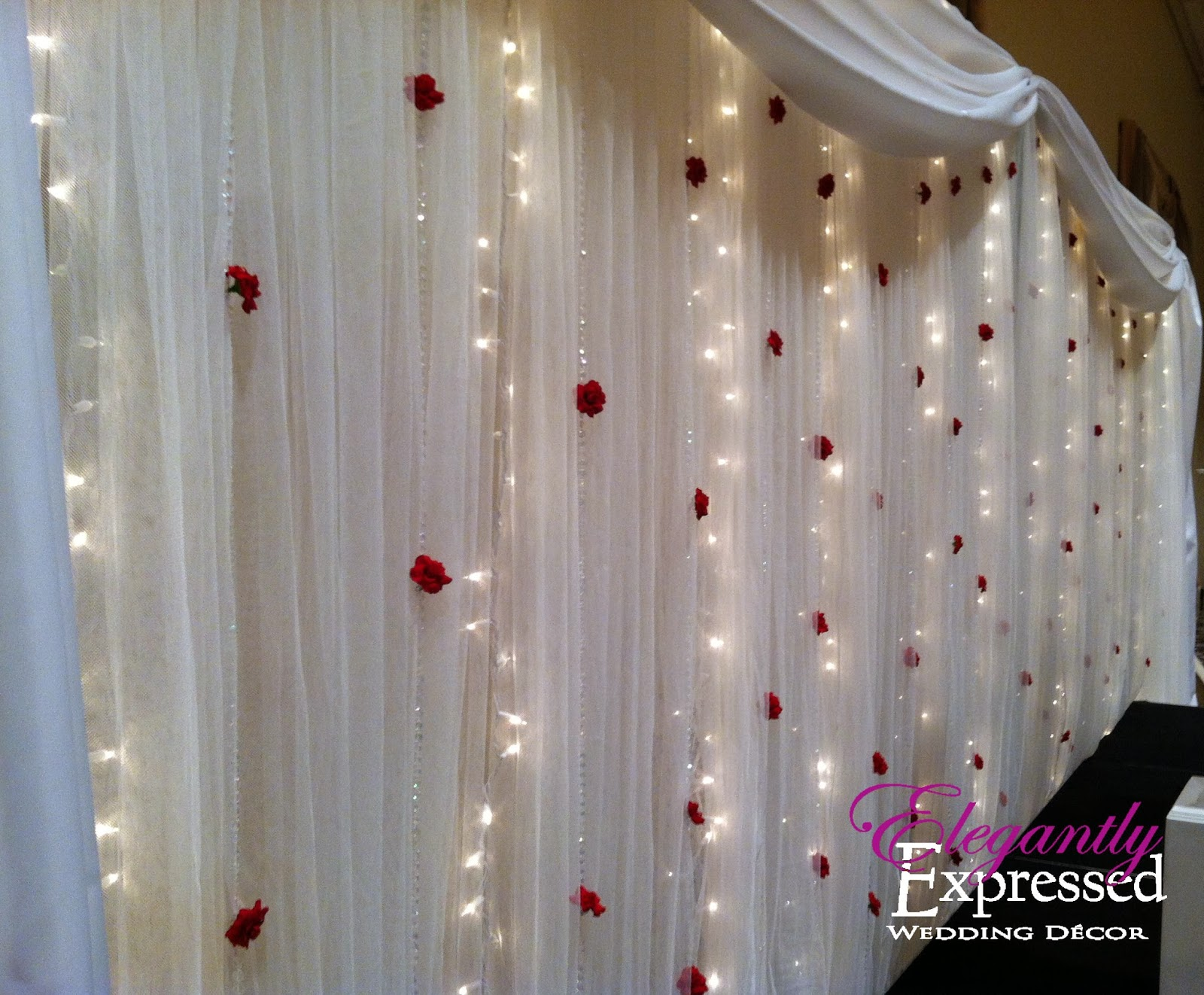 String Lights Backdrop : Elegantly Expressed Wedding Decor: February 2014