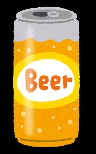 缶ビールのイラスト(500ml缶)