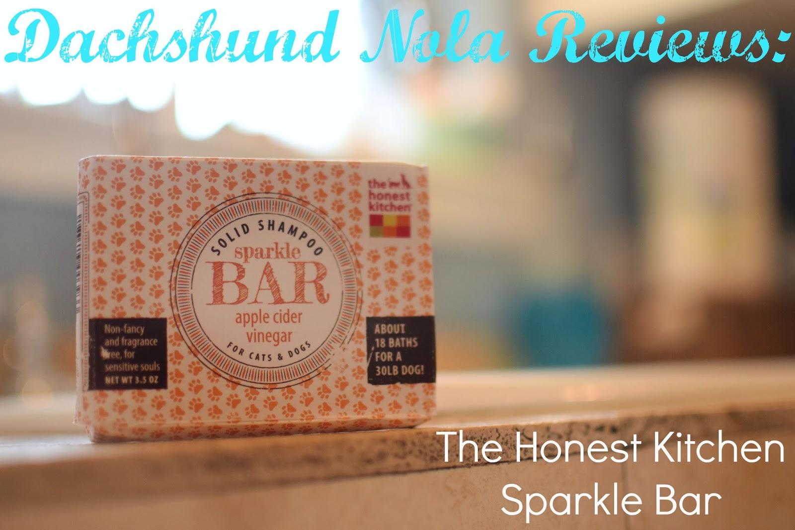 Dachshund Nola: Dachshund Nola Reviews: The Honest Kitchen Sparkle Bar