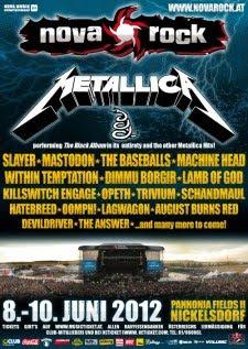 Metallica, Slayer o Mastodon al Nova Rock Festival 2012
