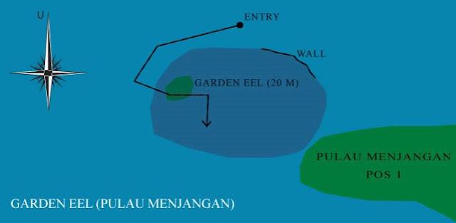 Peta Dive Site Garden Eel Pulau Menjangan Bali