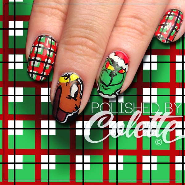 How The Grinch Stole Christmas Nail Art Polished By Colette