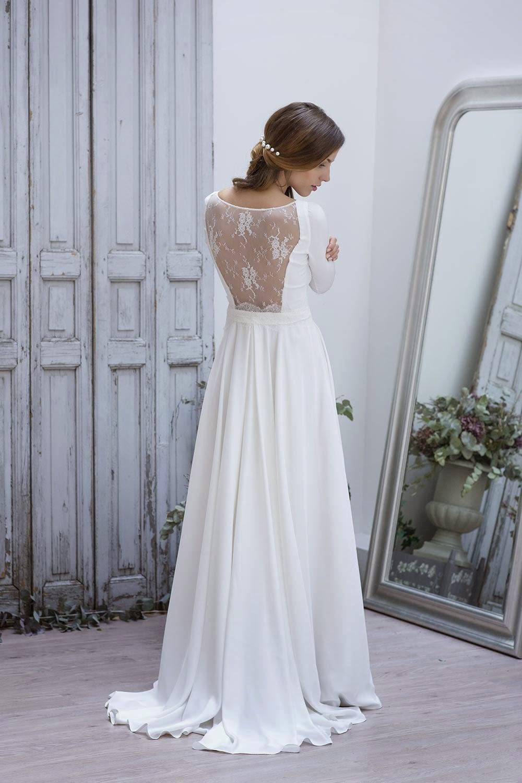 wedding spirit blog mariage robe de mariée Marie Laporte décolleté dentelle dos splendide