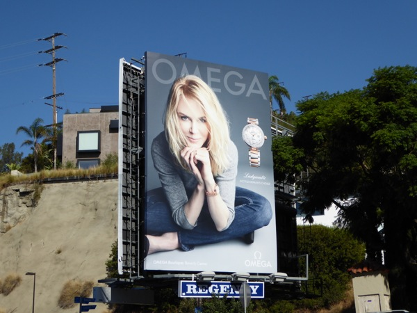 Nicole Kidman Omega watch billboard