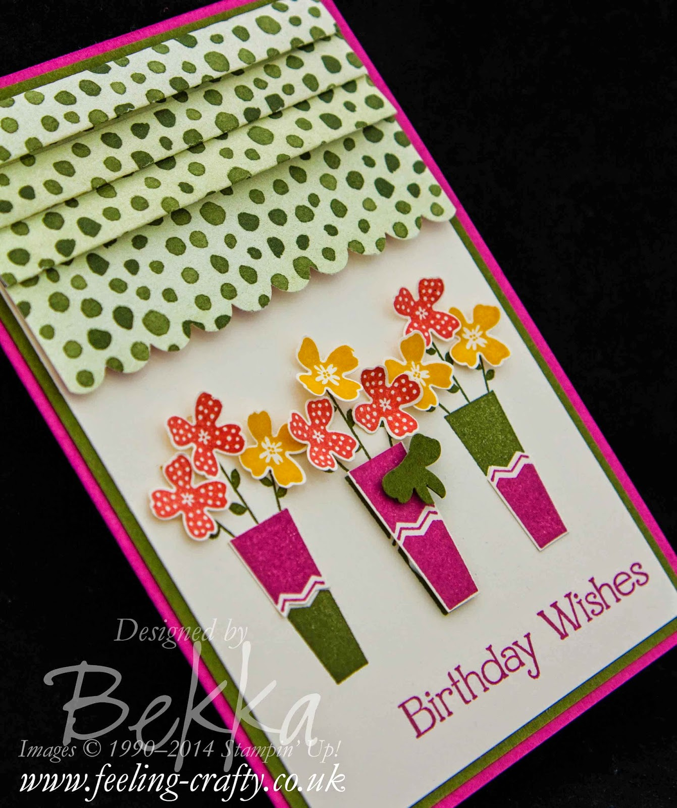 Flowers in the Window with Pictogram Punches from Stampin' Up! UK Independent Demonstrator Bekka Prideaux