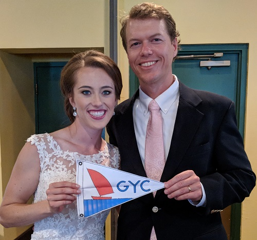 A shout out to fellow GYC members from John & Rachel Gall on their wedding day
