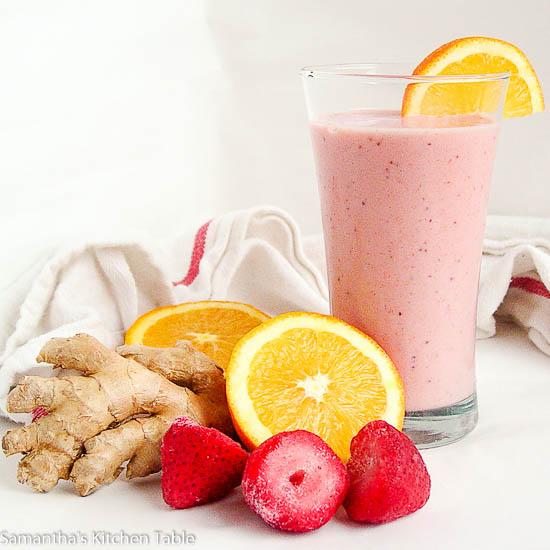Strawberry Orange Ginger Smoothie