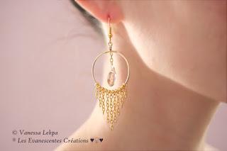 boucles d'oreille cristal cercle élégant