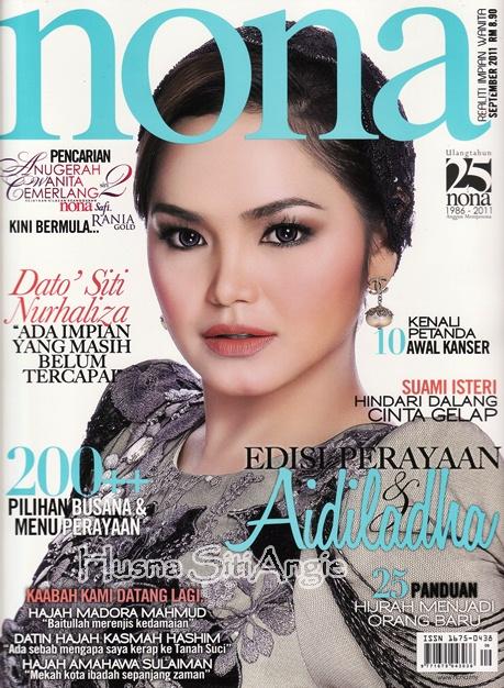 Dato' Siti cover Majalah NONA (edisi September 2011)