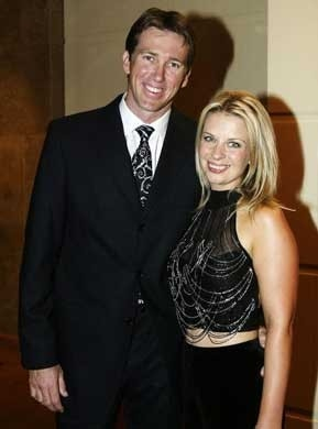 Glenn Mcgrath and wife Jane Photo