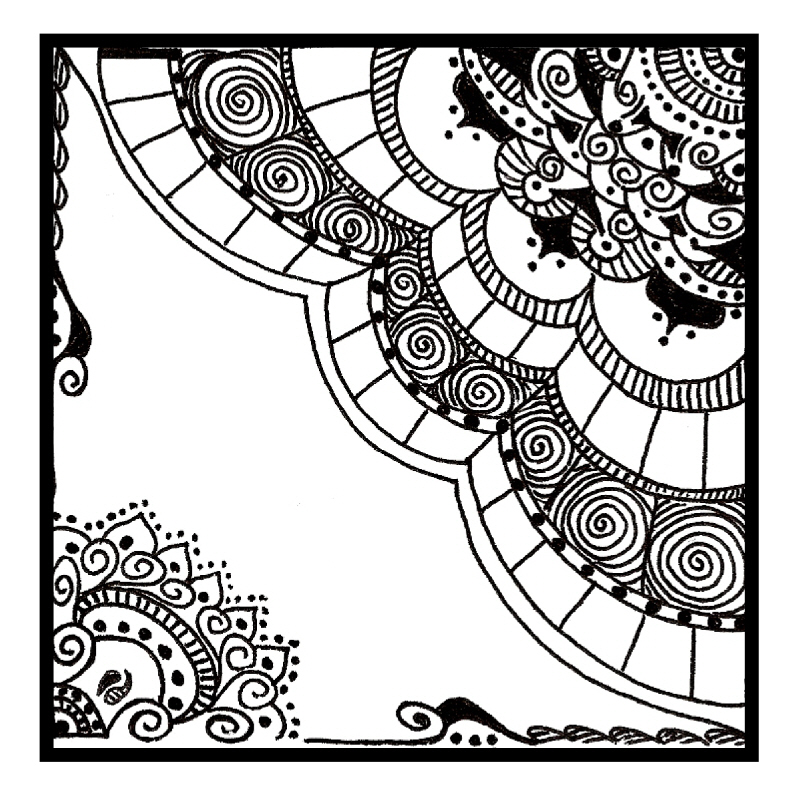 Deco chick zentangle for Doodle art free