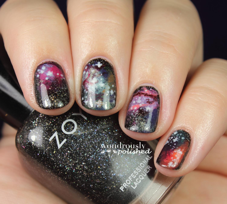 Wondrously Polished 31 Day Nail Art Challenge Day 19 Galaxies