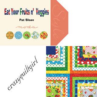 Moda EAT YOUR FRUITS & VEGGIES Quilt Fabric by Pat Sloan