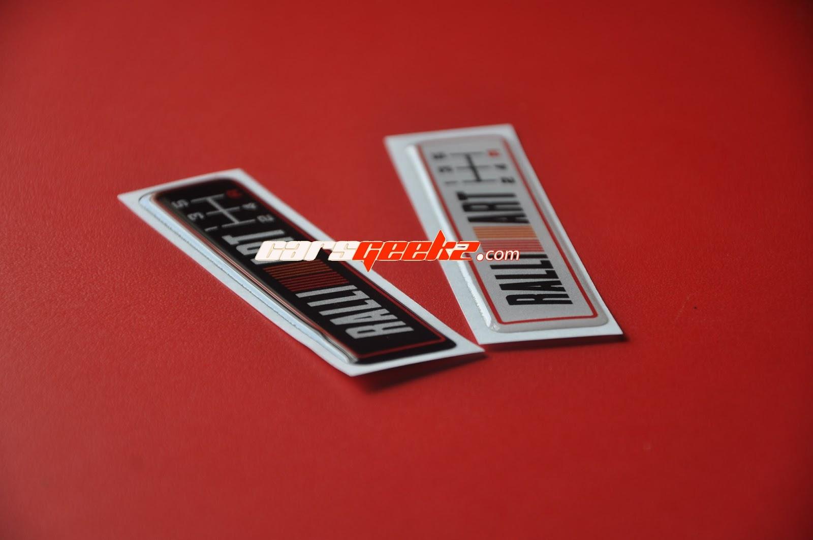 Ralliart 5 speed manual gear black badge sticker emblem mitsubishi suit evo gsr