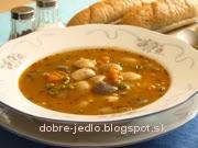 Fazuľová polievka s krúpami - recept