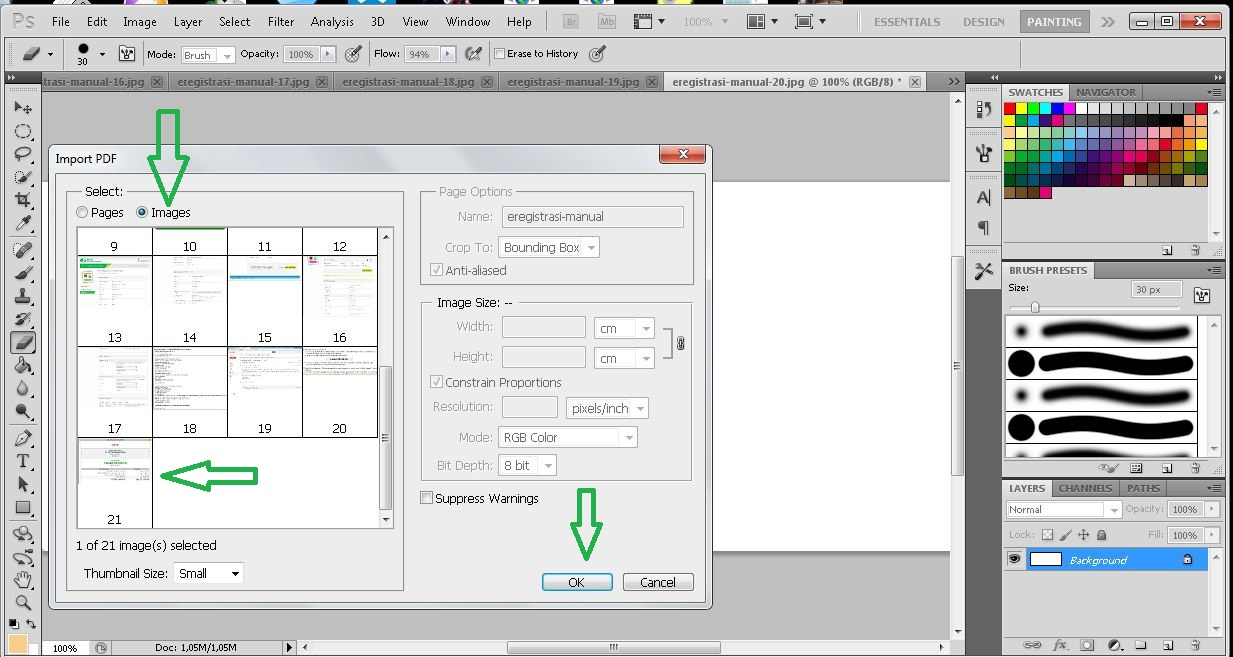 how to copy jpeg file in pdf