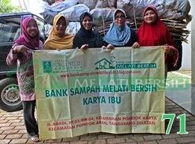 Bank Sampah Melati Bersih Karya Ibu Pondok Karya Pondok Aren Tangerang Selatan